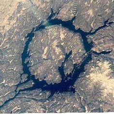 Manicouagan Crater in Quebec, Canada is Earth's sixth-largest meteorite crater. For more about Canada's best meteorite craters, see: http://www.infobarrel.com/The_Three_Best_Meteorite_Craters_in_Canada