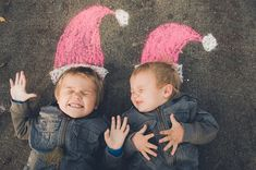 Christmas card idea - Soooo cute for the Twinkies!