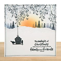 257 best images about Majestix and card-io style stamp . Christmas Cards 2017, Stamped Christmas Cards, Christmas Stencils, Beautiful Christmas Cards, Xmas Cards, Holiday Cards, Cardio Cards, Embossed Cards, Winter Cards