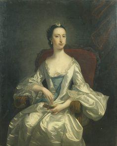 Portrait of Miss Johnson by Thomas Hudson, English, oil on canvas, ca. 1740s, KSUM