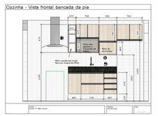 Resultado de imagem para projeto de cozinha pequena linear Sweet Home, Kitchen Cabinets, Floor Plans, Linear, Design, Mobile Design, Small Kitchen Designs, Kitchen Small, New Houses