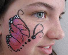 Butterfly face paint cheek > on dayasriomi.bid