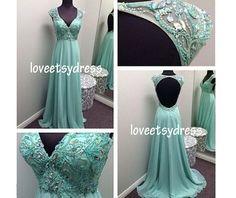 Evening dressParty dressBlue Prom dressBridesmaid by loveetsydress, $119.00