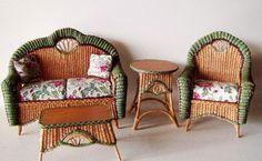 Good Sam Showcase of Miniatures: Furniture: Rhea's Wicker in Miniature