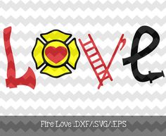 Fire Love .DXF/.SVG/.EPS File for use with by KitaleighBoutique