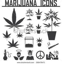 Set of cannabis, marijuana, bong shop labels, badges and design. Weed Tattoo, Leaf Tattoos, Body Art Tattoos, Small Tattoos, Bong Shop, Folk Art Flowers, Pop Art Wallpaper, Herbs, Mermaid Tattoos