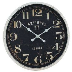 Modern #Wall #Clocks Australia - Clock Cream Rond  This antique inspired clock is a perfect addition to any wall. A great artistic element and talking point this clock will look great in any room in your home.