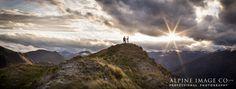 Stunning mountain light on Mount Roy, Wanaka. New Zealand wedding photography by Alpine Image Company.