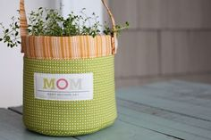 Sweetwater mom fabric basket