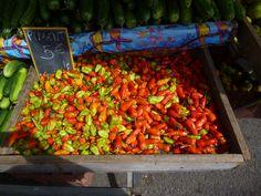 Piments au marché de Cayenne