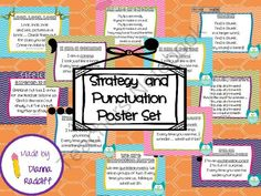Strategy and Punctuation Posters from Sassy, Savvy, Simple Teaching on TeachersNotebook.com (13 pages)  - Strategy and Punctuation Posters