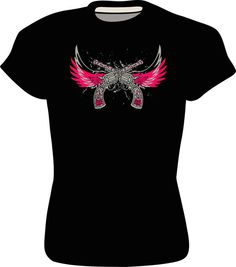Hey, I found this really awesome Etsy listing at https://www.etsy.com/listing/175620196/womens-gun-tee-with-wings