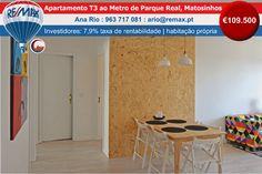 Apartamento T3 ao metro de Parque Real, Matosinhos www.remax.pt/123551032-142 Apartamento T3, remodelado, Ideal para investidores. Encontra-se arrendado a estudantes de Erasmus por 725€/mês. Zona de elevada procura para arrendamento (taxa atual de rentabilidade bruta de 7.9%), ficando a 2 estações de metro da ESAD. Ou para habitação própria. Classificação Energética: C Morada: Rua Monserrate Preço: €109.500 #apartamento #t3 #matosinhos #Investimento Marque já a sua visita…