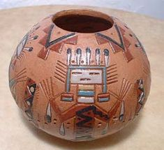 @Lydia Jean this lil guy looks like the one on my carving print.. love the rustic feel of American Indian pottery.