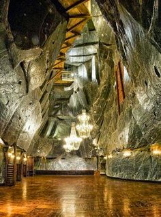 The Wieliczka Salt Mine, just outside of Krakow, Poland. Miniera di sale in Polonia. Places Around The World, Oh The Places You'll Go, Places To Travel, Places To Visit, Around The Worlds, Wieliczka Salt Mine, Visit Poland, Poland Travel, Lithuania Travel