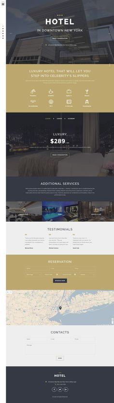 hotel website Hotels Responsive Landing Page Template. Additional features, comprehensive documentation and stock photos are included. Website Design Layout, Website Design Inspiration, Web Layout, Layout Design, Hotel Website Design, Website Designs, Website Ideas, Web Hotel, Hotel App