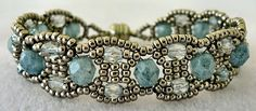 Linda's Crafty Inspirations: Bracelet of the Day: Canterbury - Stone Blue
