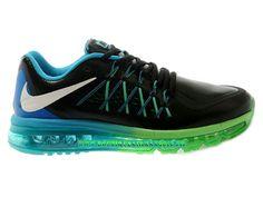 709f261f95b3 Nike Air Max 2015 Chaussures Nike Pas Cher Homme Noir Bleu 698902-ID3