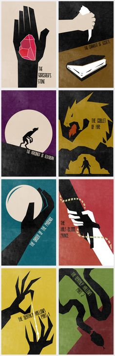 Harry Potter posters. I found such joy in this delightful series. I miss you, Harry Potter! xx