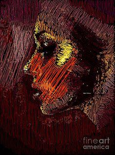 Studio Portrait In Pencil 60 Digital Art by Rafael Salazar