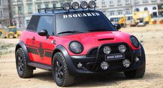 """View detailed pictures that accompany our Mini Cooper S """"Red Mudder"""" by Dsquared article with close-up photos of exterior and interior features. Mini Cooper S, Mini Cooper Custom, Mini Cooper Tuning, Automobile, Cooper Countryman, Cute Car Accessories, Lifted Cars, Mini One, Smart Car"""