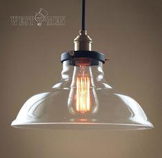 Vintage Glas-Kronleuchter Deckenleuchte Licht klassischen Bronzekopf Edison Lampe Beleuchtung