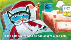 Smartboard read and sing along Pete the Cat Saves Christmas