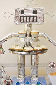 My son's robot birthday party.