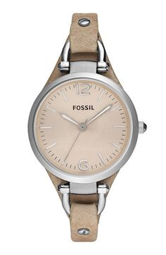 Fossil 'Georgia' Leather Strap Watch