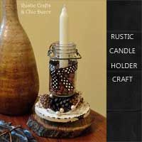 rustic candle holder craft idea by