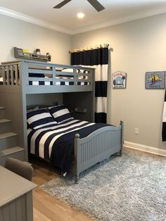 Smart Bunk Bed Ideas For Your Kids Bedroom Design - Engineering Discoveries Shared Boys Rooms, Bunk Beds For Boys Room, Bed For Girls Room, Bunk Bed Rooms, Cool Bunk Beds, Boy Room, Shared Bedrooms, Cool Bedrooms For Boys, Boy Beds