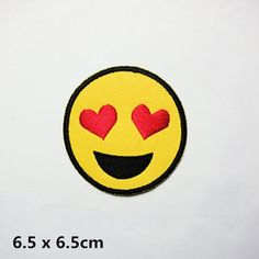 New to craftapplique on Etsy: love heart emoticon patch embroidered patch iron on patches iron on patch sew on patch (3.99 USD)
