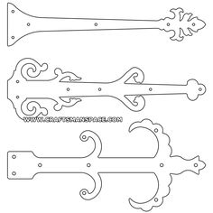 Door hinge plate patterns 4