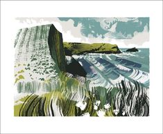 Andy Lovell Greetings Card North Cornish Coast Caroline Barker, Cornish Coast, Still Life Artists, Life Form, Colored Envelopes, Silk Screen Printing, Love Cards, Printmaking, Greeting Cards