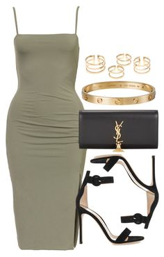 """Style #9927"" by vany-alvarado ❤ liked on Polyvore featuring Gianvito Rossi, Yves Saint Laurent and Cartier"