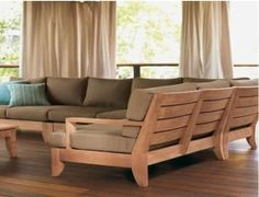 outdoor sectional #patio #furniture #wood #outdoor by karla