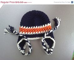 ON SALE Chicago Bears HatFootball Team by RevelynsHandcrafts, $13.50
