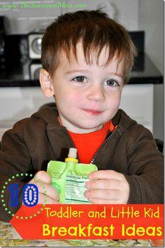 10 Toddler and Little Kid Breakfast Ideas at www.TheSeasonedMom.com