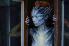 alien makeup   the female alien makeup and body painting by michael aka tauart puts ...