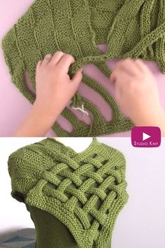 lace knitting Learn how to knit a Braided Celtic Knot Scarf. This pattern is a fun one for experienced beginners. Enjoy easy knit and purl combinations in this interwoven design. Get full written pattern and video tutorial by Studio Knit. Easy Knitting Patterns, Knitting Stitches, Free Knitting, Baby Knitting, Snood Knitting Pattern, Loom Knitting Scarf, Crochet Shrug Pattern Free, Easy Scarf Knitting Patterns, Hooded Scarf Pattern