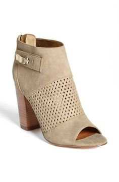 Teaming this perforated bootie with jeans :)