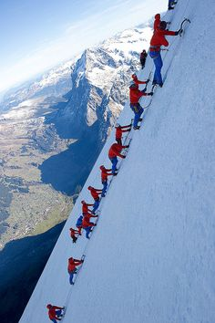 Mammut Testevent Eiger Extreme by mammutphoto, via Flickr  Sure, don't hold your breath!