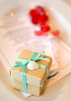 Beach wedding favor idea.