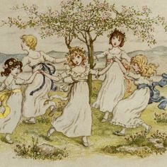 68 best Kate Greenaway coloring~prints images on Pinterest | Baby ...