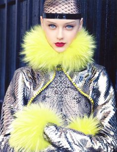 Simply Elegant   Vogue China Collections Fall 2012Nastya Kusakina by Patrick Demarchelier Jean Paul Gaultier   Fall 2012 Couture