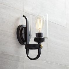 """Eagleton 12"""" High Oil-Rubbed Bronze Wall Sconce"""