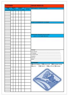 Fillable Auto Repair Invoice Template  Garage Invoice Template