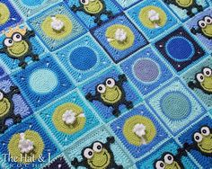 Looking for your next project? You're going to love Frog Frenzy - a HoPpY frog blanket by designer Marken.