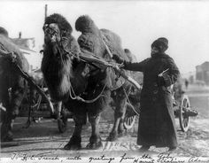 Explorer Harriet Chalmers Adams in the Gobi Desert.