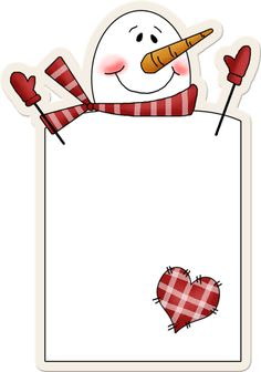 paper idea for snowman poem Christmas Gift Tags, Christmas Snowman, Winter Christmas, Christmas Crafts, Diy And Crafts, Paper Crafts, Christmas Border, Page Borders, Country Paintings